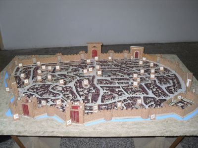Plastico delle mura di fortificazione della città di Nardò