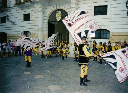 Sbandieratori in Piazza Pio XI