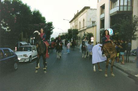 Corteo storico su Corso Galliano