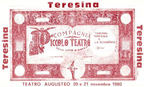 Invito 1980 Teatro Augusteo