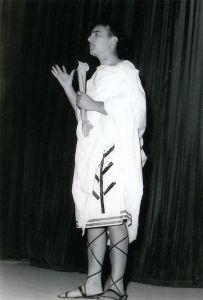 anni 60 Gregorio Caputo in Orazione a Cesare - Teatro Augusteo